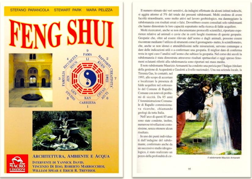 """Testimonianze - Libro """" Feng Shui"""" parla delle straordinarie capacità del Rabdomante Professionista Maurizio Armanetti"""